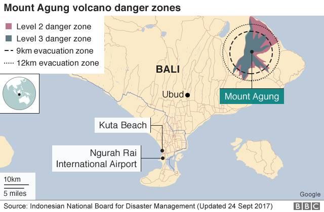 巴厘岛火山地震频发,小长假千万别去!